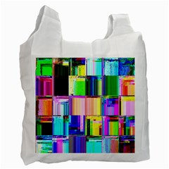 Glitch Art Abstract Recycle Bag (Two Side)
