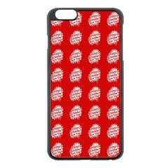 Happy Chinese New Year Pattern Apple iPhone 6 Plus/6S Plus Black Enamel Case
