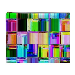 Glitch Art Abstract Cosmetic Bag (XL)