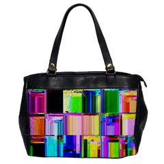 Glitch Art Abstract Office Handbags