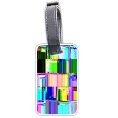 Glitch Art Abstract Luggage Tags (Two Sides)