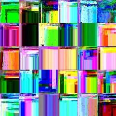 Glitch Art Abstract Magic Photo Cubes