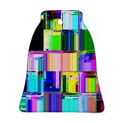 Glitch Art Abstract Bell Ornament (Two Sides)
