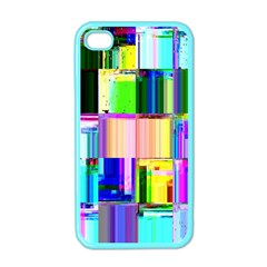 Glitch Art Abstract Apple iPhone 4 Case (Color)