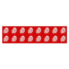 Happy Chinese New Year Pattern Satin Scarf (Oblong)