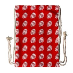 Happy Chinese New Year Pattern Drawstring Bag (Large)