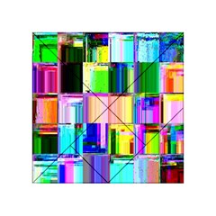 Glitch Art Abstract Acrylic Tangram Puzzle (4  x 4 )