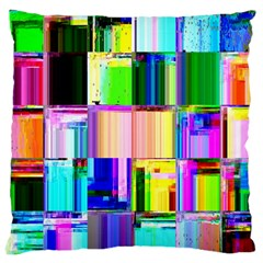 Glitch Art Abstract Large Cushion Case (two Sides)