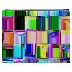 Glitch Art Abstract Cosmetic Bag (XXXL)