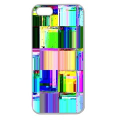 Glitch Art Abstract Apple Seamless iPhone 5 Case (Clear)