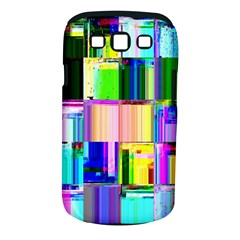 Glitch Art Abstract Samsung Galaxy S III Classic Hardshell Case (PC+Silicone)