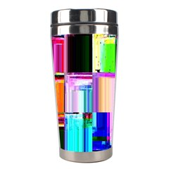 Glitch Art Abstract Stainless Steel Travel Tumblers