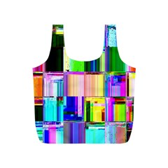 Glitch Art Abstract Full Print Recycle Bags (S)