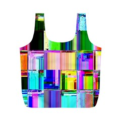 Glitch Art Abstract Full Print Recycle Bags (M)