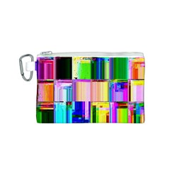 Glitch Art Abstract Canvas Cosmetic Bag (S)