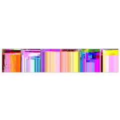 Glitch Art Abstract Flano Scarf (Small)
