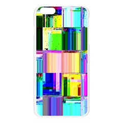Glitch Art Abstract Apple Seamless iPhone 6 Plus/6S Plus Case (Transparent)