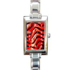 Fractal Mathematics Abstract Rectangle Italian Charm Watch