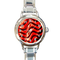 Fractal Mathematics Abstract Round Italian Charm Watch