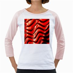 Fractal Mathematics Abstract Girly Raglans