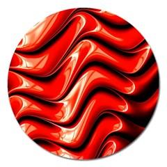 Fractal Mathematics Abstract Magnet 5  (Round)