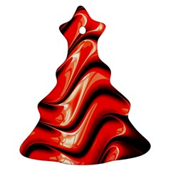 Fractal Mathematics Abstract Christmas Tree Ornament (Two Sides)