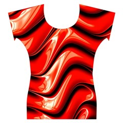 Fractal Mathematics Abstract Women s Cap Sleeve Top