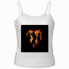 Heart Love Flame Girl Sexy Pose Ladies Camisoles