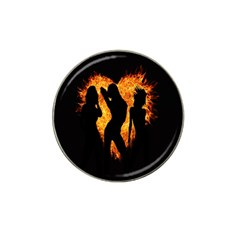 Heart Love Flame Girl Sexy Pose Hat Clip Ball Marker