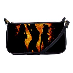 Heart Love Flame Girl Sexy Pose Shoulder Clutch Bags