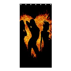 Heart Love Flame Girl Sexy Pose Shower Curtain 36  x 72  (Stall)