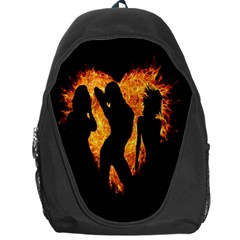 Heart Love Flame Girl Sexy Pose Backpack Bag