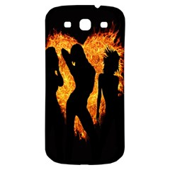 Heart Love Flame Girl Sexy Pose Samsung Galaxy S3 S III Classic Hardshell Back Case