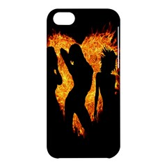 Heart Love Flame Girl Sexy Pose Apple iPhone 5C Hardshell Case