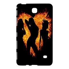 Heart Love Flame Girl Sexy Pose Samsung Galaxy Tab 4 (8 ) Hardshell Case