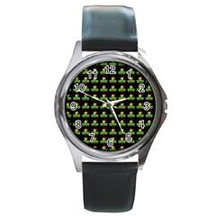 Irish Christmas Xmas Round Metal Watch