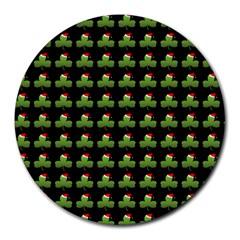 Irish Christmas Xmas Round Mousepads