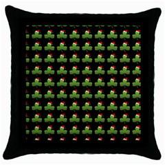 Irish Christmas Xmas Throw Pillow Case (Black)