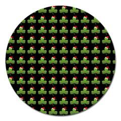 Irish Christmas Xmas Magnet 5  (Round)