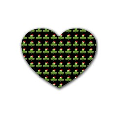 Irish Christmas Xmas Rubber Coaster (Heart)