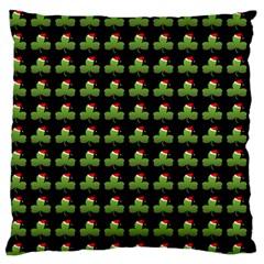 Irish Christmas Xmas Large Flano Cushion Case (One Side)