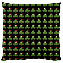 Irish Christmas Xmas Large Flano Cushion Case (two Sides)