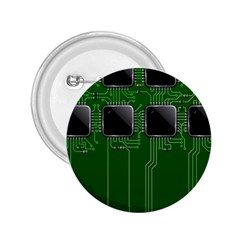 Green Circuit Board Pattern 2.25  Buttons