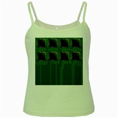 Green Circuit Board Pattern Green Spaghetti Tank