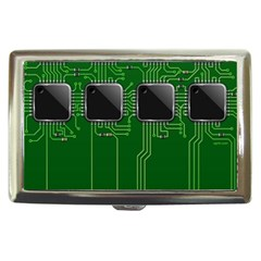 Green Circuit Board Pattern Cigarette Money Cases