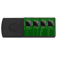 Green Circuit Board Pattern USB Flash Drive Rectangular (1 GB)