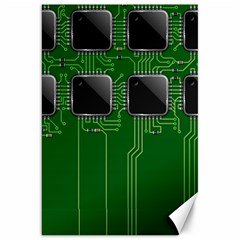 Green Circuit Board Pattern Canvas 20  x 30
