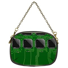 Green Circuit Board Pattern Chain Purses (Two Sides)