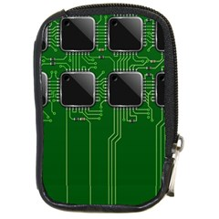 Green Circuit Board Pattern Compact Camera Cases