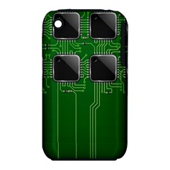 Green Circuit Board Pattern Iphone 3s/3gs